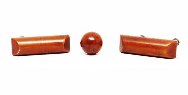 Set of Brown Bakelite Pulls - Cabinet & Furniture Pulls