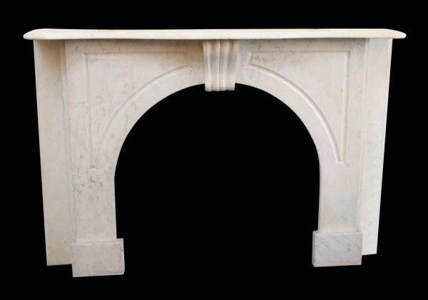 White Carrera Marble Mantel - Mantels