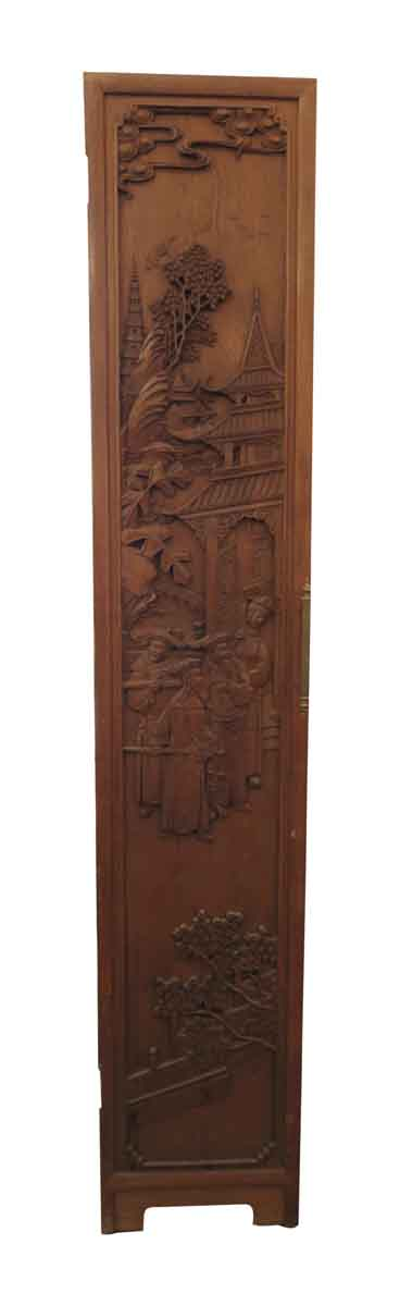 Chinese Hand Carved Room Divider with Right Side Handle - Unique Pieces