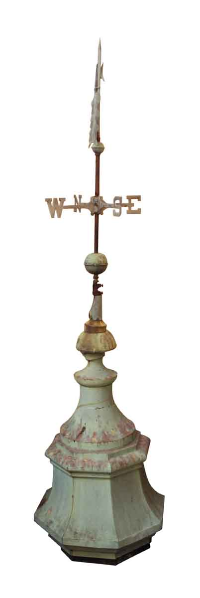 Rare Copper Weather Vane Mounted on Top of a Copper Cupola - Exterior Materials