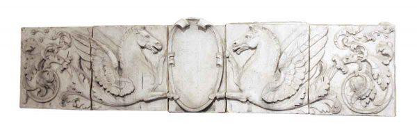 Terra Cotta Frieze with Phoenix & Shield Detail - Stone & Terra Cotta