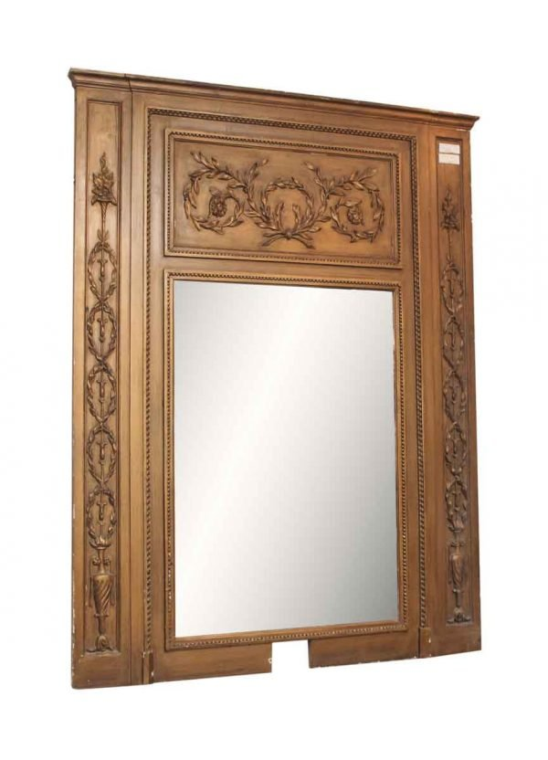 Antique Ornate Carved Mirror - Overmantels & Mirrors