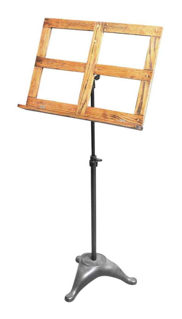Wood and Cast Iron Music Sheet Stand - Musical Instruments