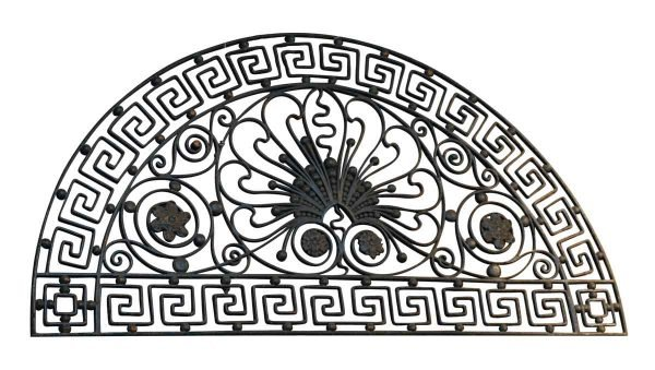 Ornate Wrought Iron Grill from United Charities Building in Manhattan - Decorative Metal