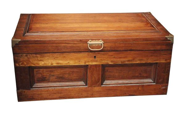 Large & Sturdy Vintage Wooden Trunk - Trunks