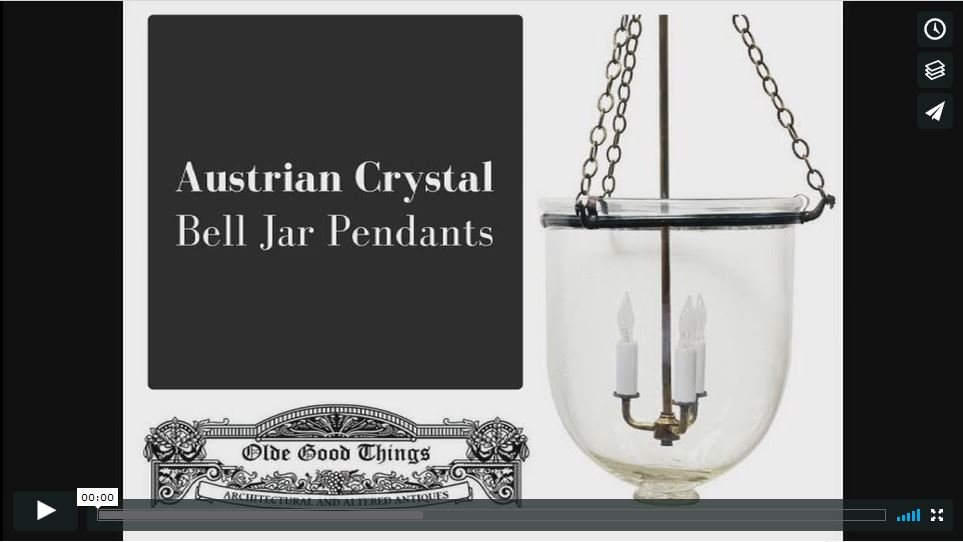 Antique Austrian Crystal Bell Jar