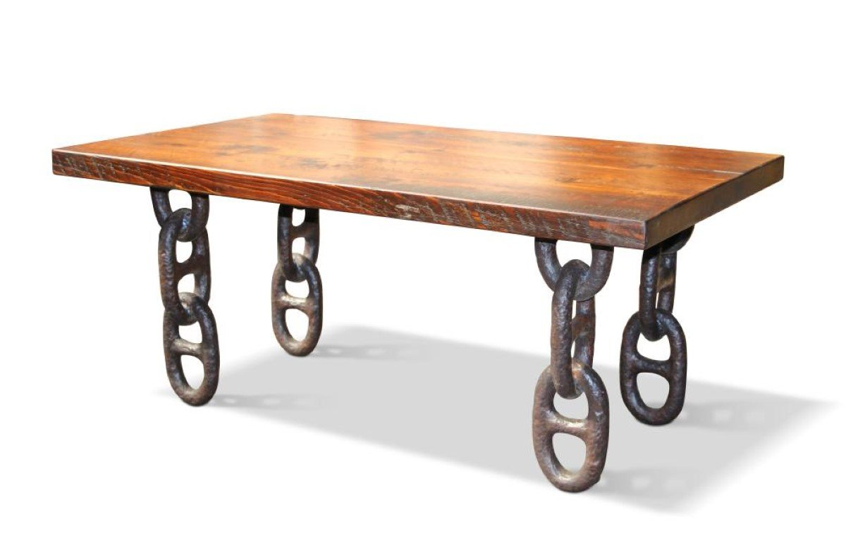 Altered antiques the missing link with boat anchor chain olde good things Legs for a coffee table