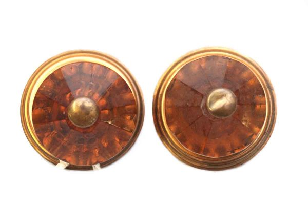 Pair of Rose Colored Knobs - Cabinet & Furniture Knobs