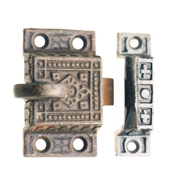 Aesthetic Iron Cabinet Latch with Circular Handle - Cabinet & Furniture Latches