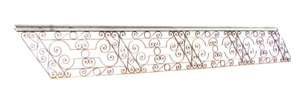 Ornate Antique Wrought Iron Stair Railing - Gates