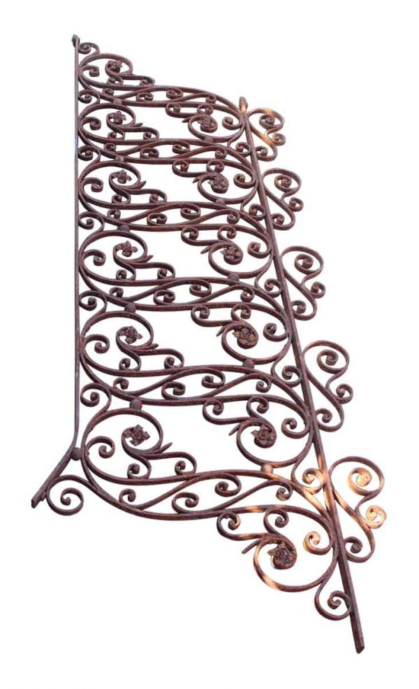 Hand Wrought Ornate Iron Stair Railing - Fencing