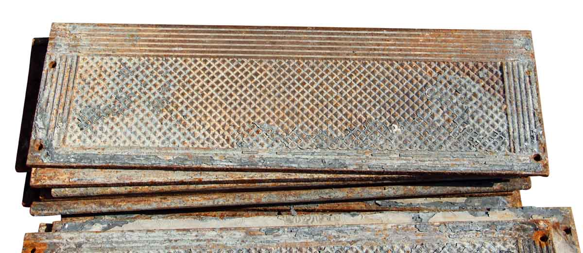 Old Cast Iron Industrial Stair Treads