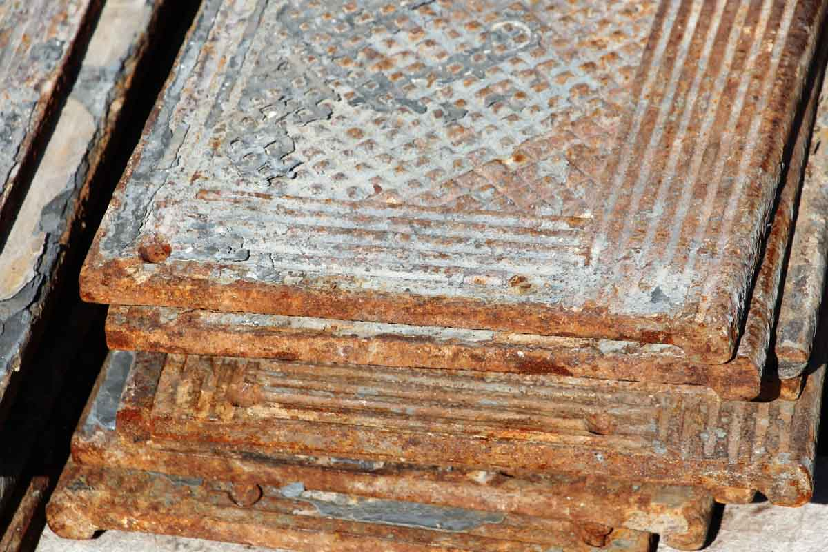 Elegant Old Cast Iron Industrial Stair Treads