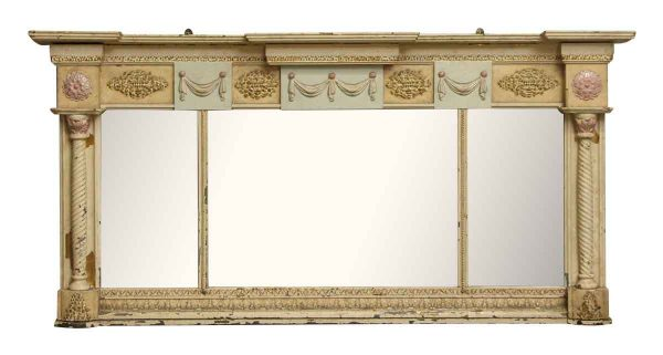Tan Ornate Over Mantel Mirror - Overmantels & Mirrors