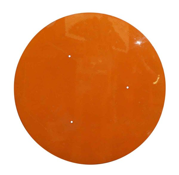 Round Orange Plastic Table Top - Table Tops
