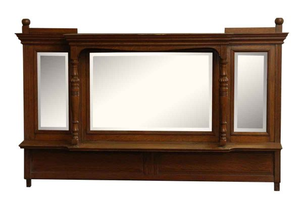 Over Mantel Mirror with Beveled Glass - Overmantels & Mirrors