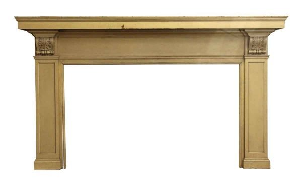 Turn of the Century Stately Wooden Mantel - Mantels