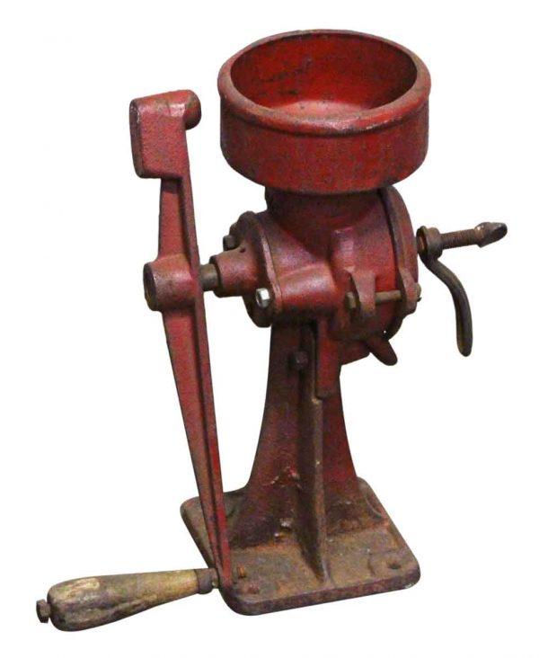 Red Cast Iron Grinder - Kitchen