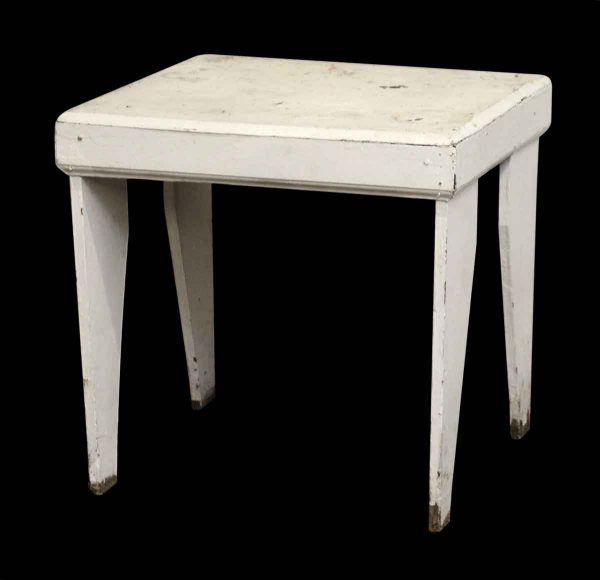 White Wooden Side Table - Living Room