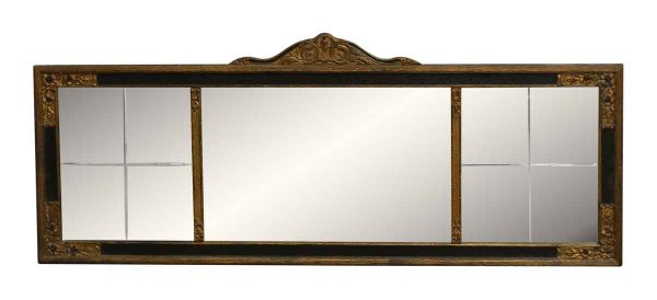 Three Part Victorian Mirror - Overmantels & Mirrors