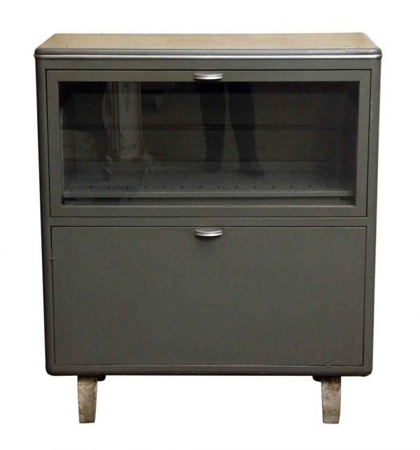 Retro Vintage Steel Bookshelf Cabinet - Cabinets