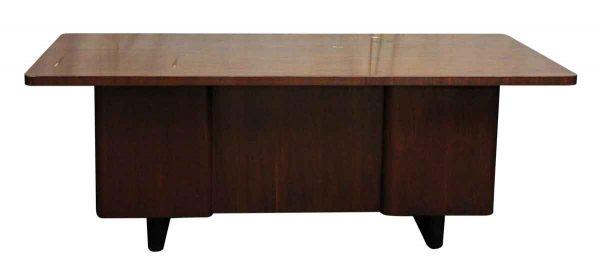 Art Deco Walnut Veneer Executive Desk - Office Furniture