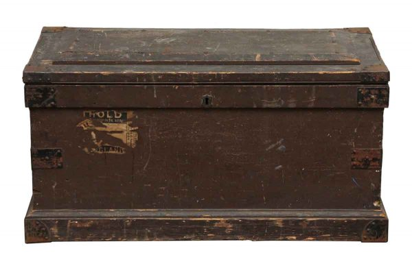 Large Wooden Brown Trunk - Trunks