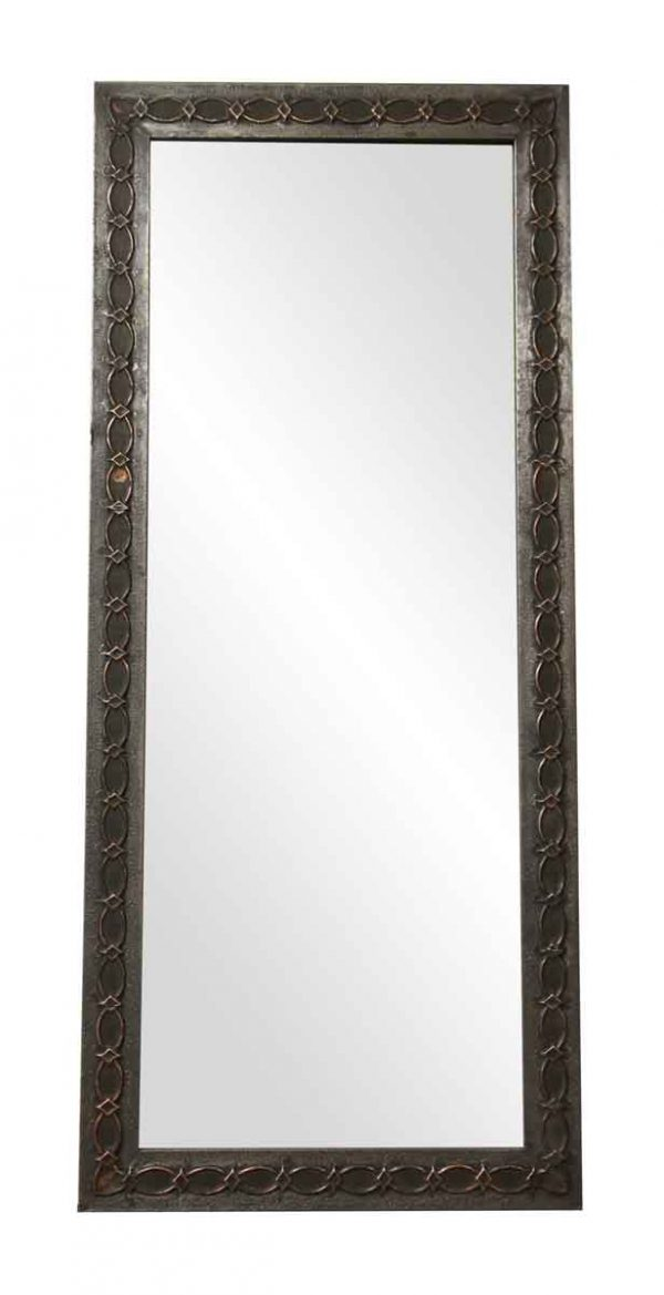 Zinc Over Copper Salvaged Drain Spout Dressing Mirror - Copper Mirrors & Panels