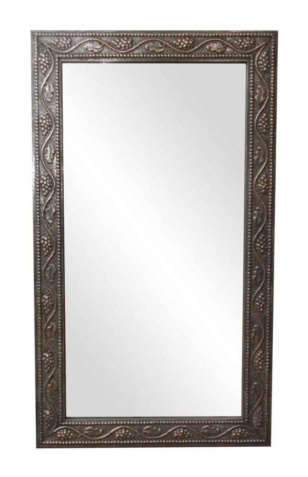Zinc Over Copper Salvaged Drain Spout Grapevine Mirror - Copper Mirrors & Panels