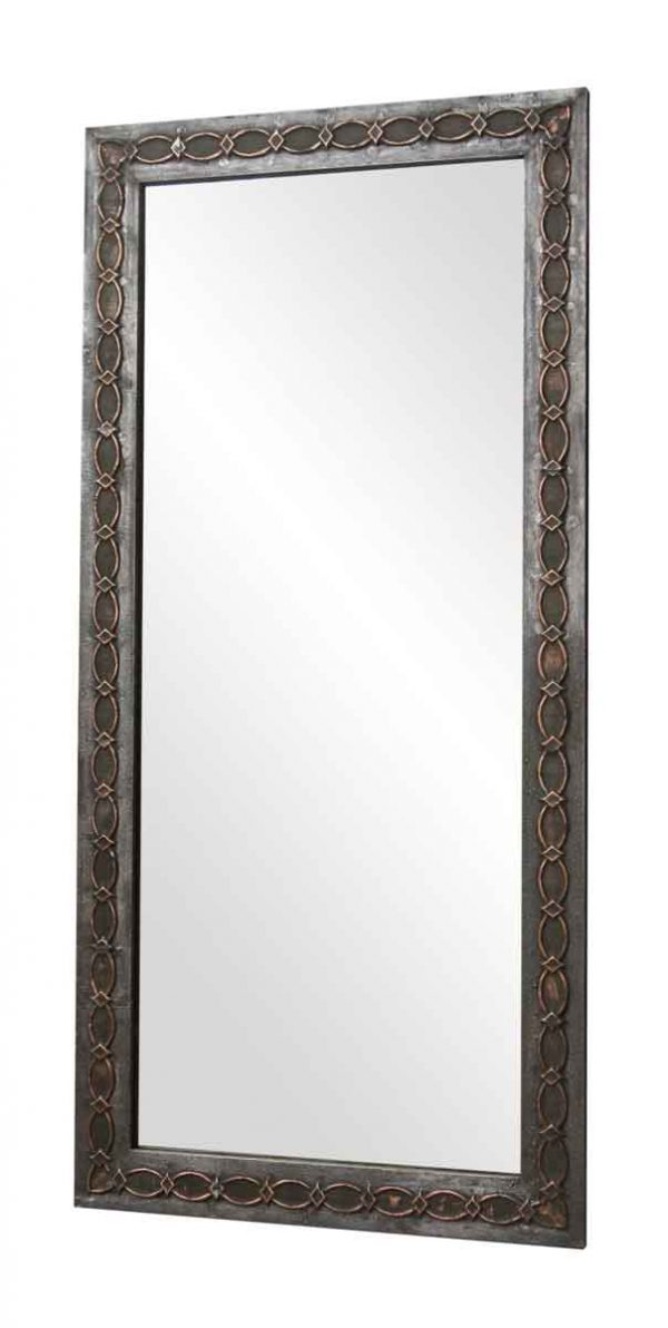 Zinc Over Copper Salvaged Drain Spout Mirror - Copper Mirrors & Panels