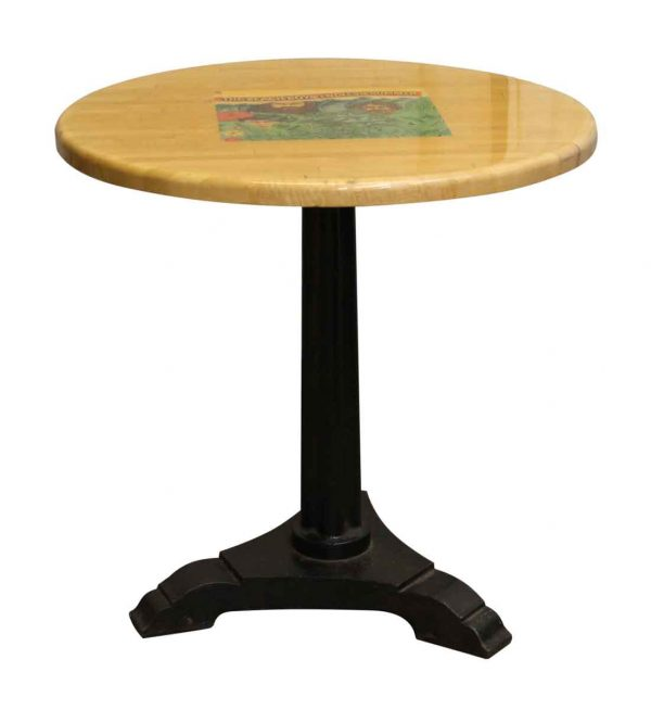 Round Bistro Table with Classic Music Album Covers - Commercial Furniture
