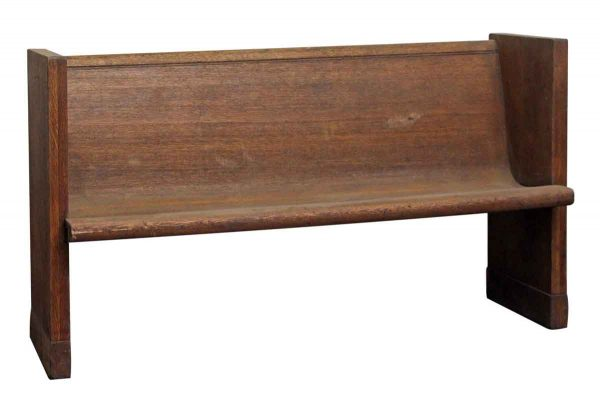 Wooden Simple Style Pew - Religious Antiques