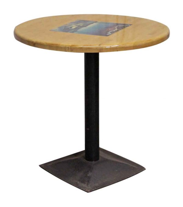 Restaurant Table with Metal Pedestal Base - Commercial Furniture
