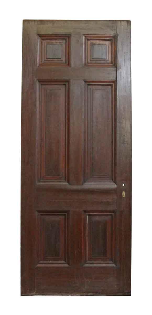 Six Vertical Panel Wood Door - Standard Doors