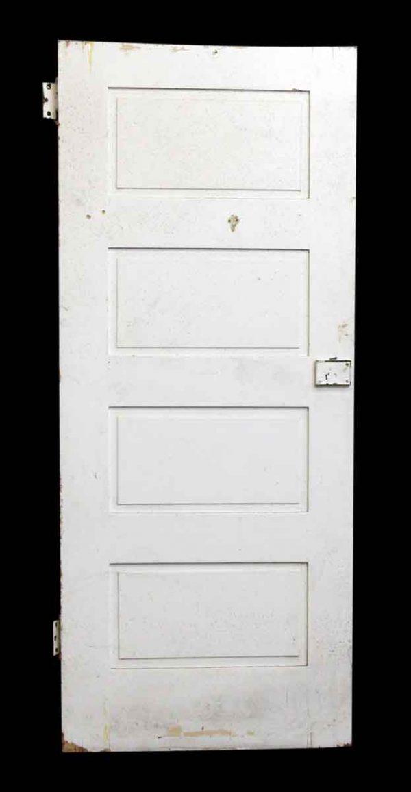 Single White Wood Door with Four Panels - Standard Doors