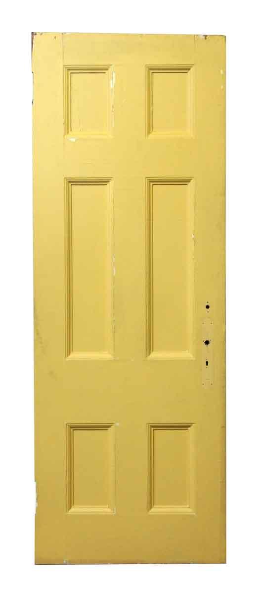Yellow & White Wood Door - Standard Doors