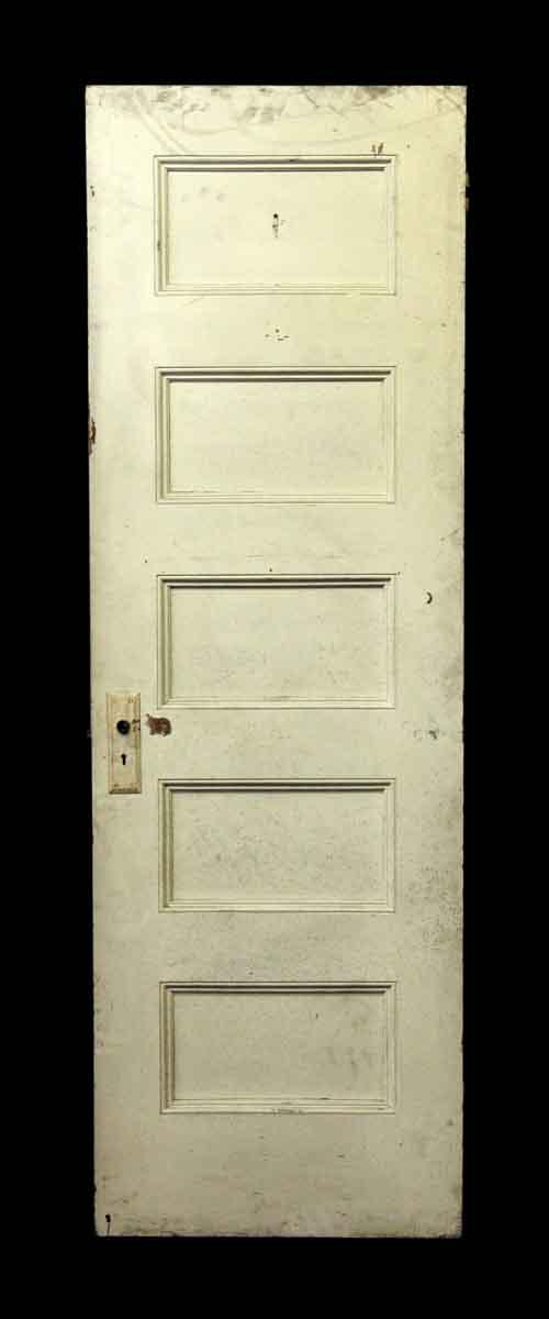 Five Wooden Panel White Door - Standard Doors