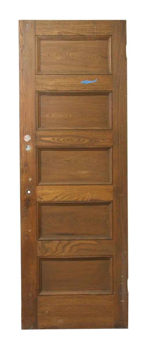 Five Horizontal Wood Panel Door - Standard Doors
