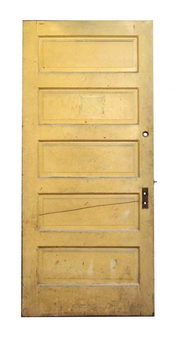 Five Panel Green & Tan Door - Standard Doors