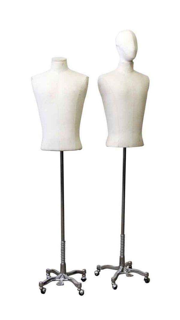 Men's White Torso Mannequin - Commercial Furniture