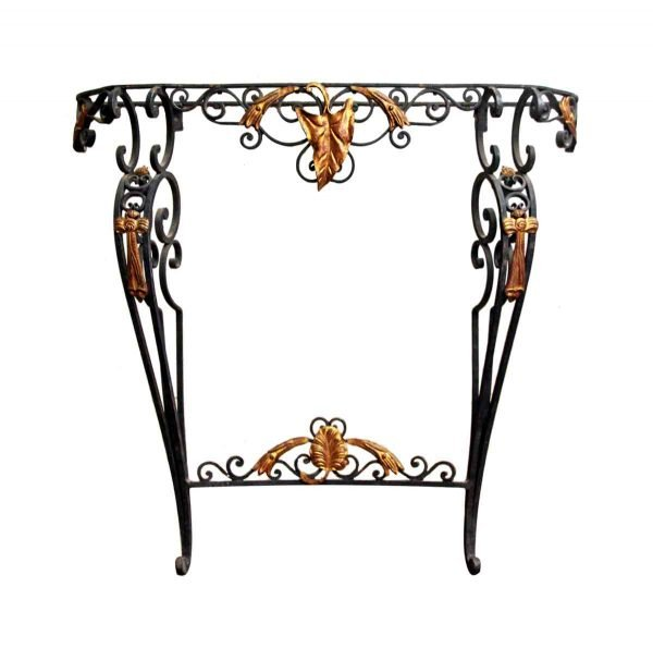 Black & Gold Console Table - Entry Way