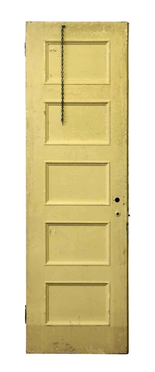 Single Brown & Yellow Five Panel Door - Standard Doors