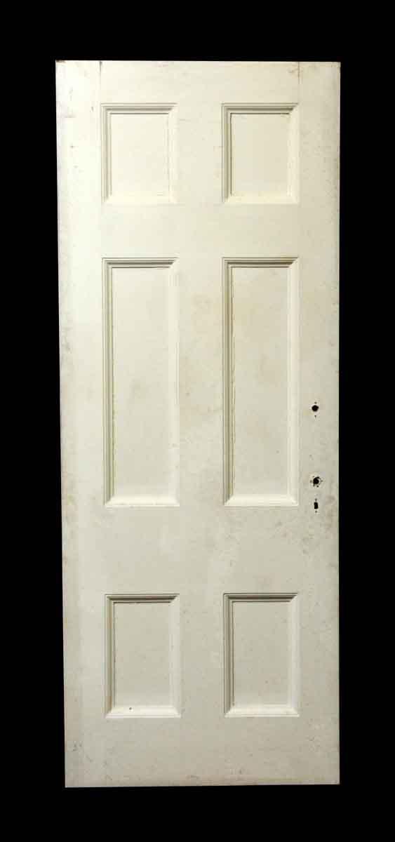 Six Panel White & Green Door - Standard Doors