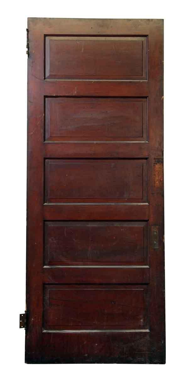 Five Panel Dark Wood Door - Standard Doors