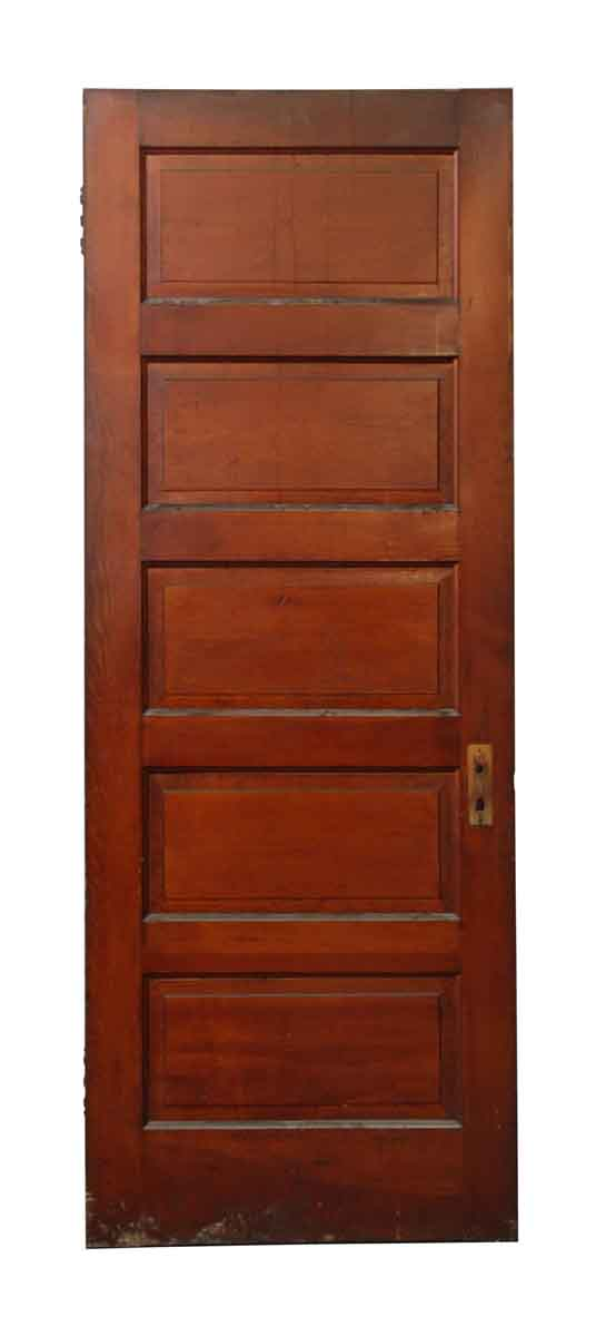 Five Panel Green & Brown Door - Standard Doors