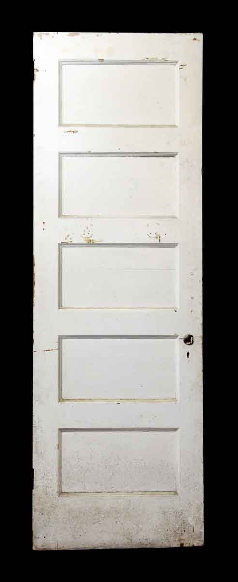 White Wooden Five Panel Door - Standard Doors