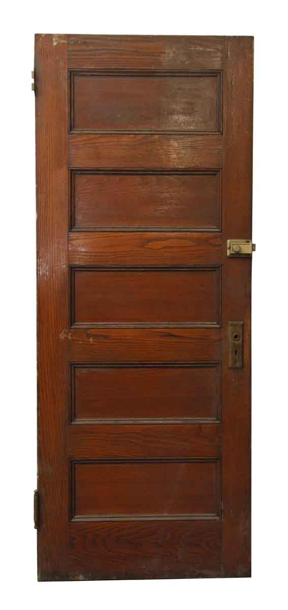 Wood Five Horizontal Panel Door - Standard Doors