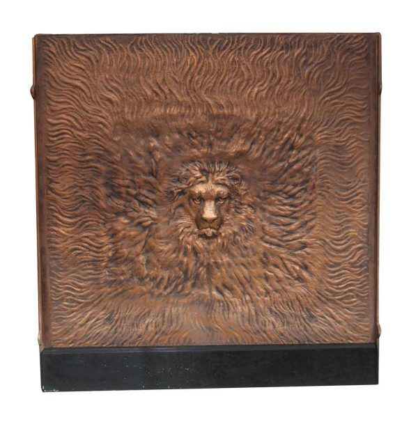 Copper Plated Iron Lion Head Insert - Screens & Covers