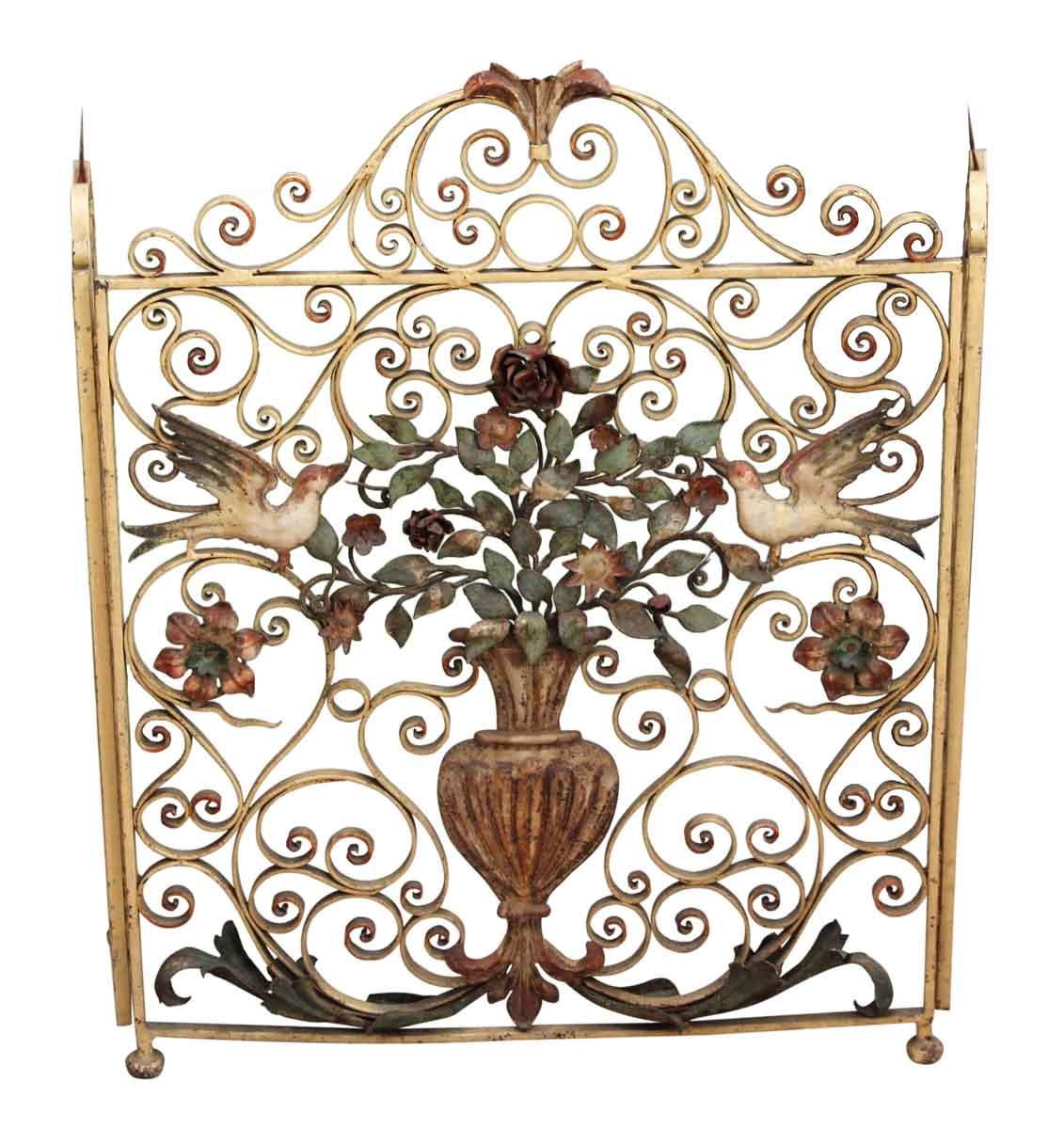 Wrought Iron Bird Fireplace Screen Olde Good Things