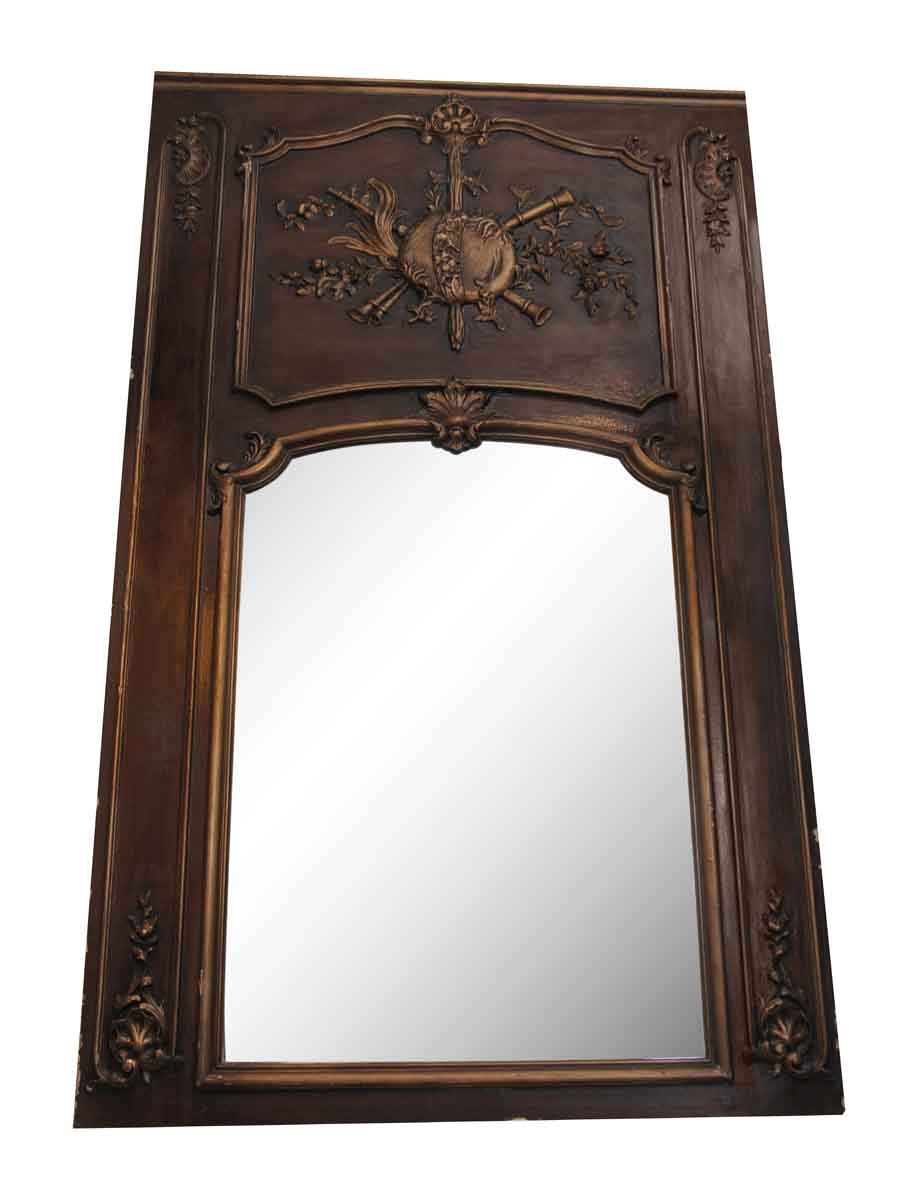 Wood Framed Mantel Mirror - Overmantels & Mirrors
